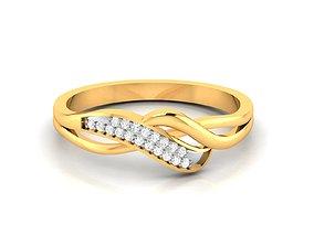 Women bride band ring 3dm render detail sterling
