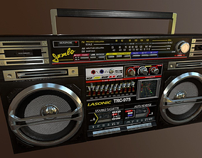 3D asset low-poly Lasonic TRC-975 Boombox