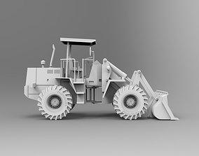3D asset animated Bulldozer