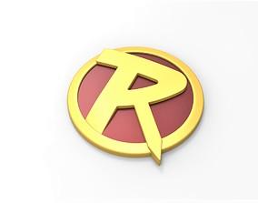 bat 3D printable Robin emblem for cosplay costume