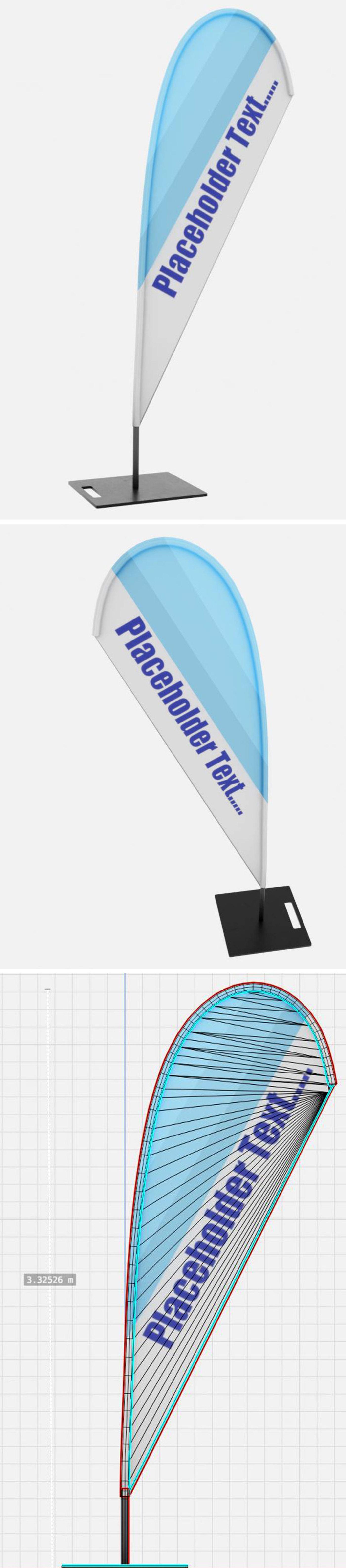 Beachflag 1 (Blender-2.90.1 Eevee)