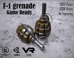 3D model F1 grenade Game ready