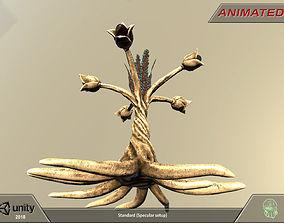 3D asset Alien flora-plant 05