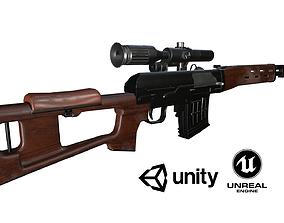 3D asset SVD soviet rifle