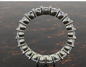 3D print model wedding ring full round