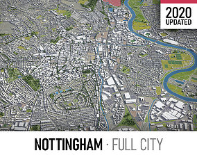 3D asset Nottingham - city and surroundings