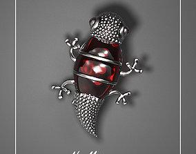 Brooch Gecko 3D print model