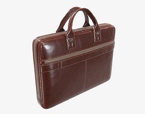 Leather laptop bag briefcase handbag 03 3D