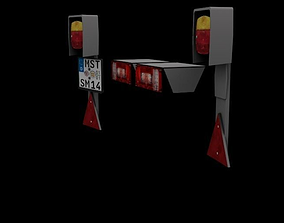3D printable model Taillights license plate