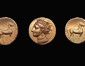 Coin - Carthage Gold 3D model