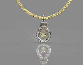 3D print model lamp necklace