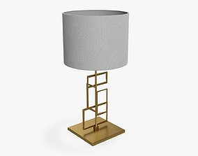 3D Table lamp with lampshade 05
