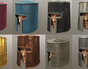 Medieval helmet puck 3D model