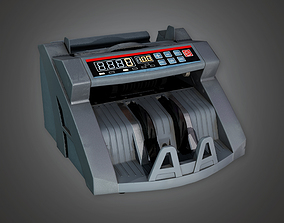 3D asset Cash Counting Machine BHE - PBR Game Ready