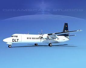 Fokker F-60 DLT 3D