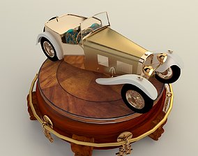 3D Chinese display with classic car