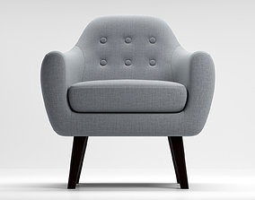 3D model Armchair Ritchie pearlgrey