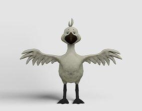 3D model Cartoon goose