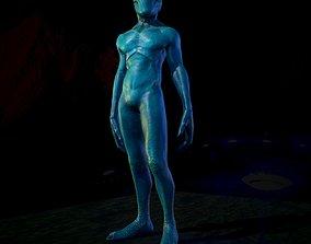 Alien Low Poly 3D asset