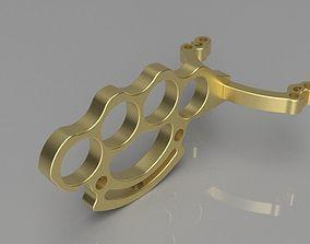3D printable model brass knuckles x slingshot