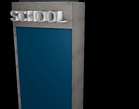 bookstore school 3D model