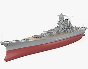 vessel 3D model Japanese battleship Yamato