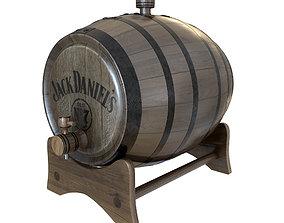 3D model Wooden Whiskey Barrel