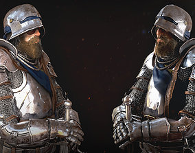 3D asset rigged Knight Character Male