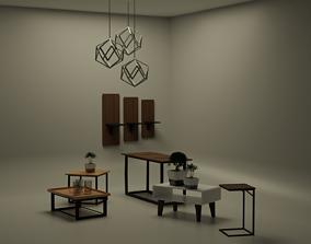 PACKAGE Minimalst Modern Furniture 3D model