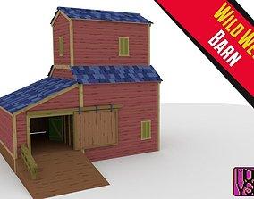 3D model Wild West Barn