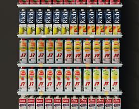 Juices Shelf 3D asset