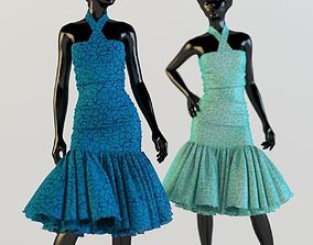 Dress holiday Escort fashion designer 3D