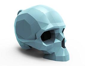 3D printable model Faceted skull pendant