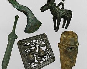 3D model bronze figures