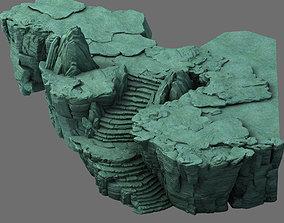 Field - terrain stone ladder 3D model