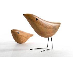 Mid Century Danish Modern Wooden Birds 3D model