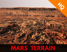 Mars Planet Landscape Desert Terrain Valley 3D model 2
