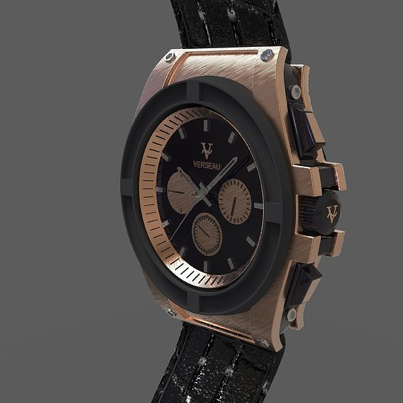 3D design of a wrist watch