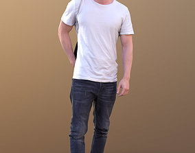 Rick 10497 - Walking Casual Guy 3D asset