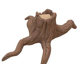 3D model Cartoon stump