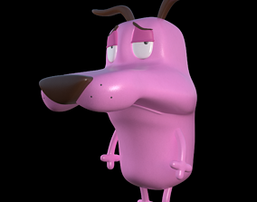 Courage the cowardly Dog 3d Printing Pose 5