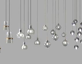 Vertical chandeliers lamp 3D
