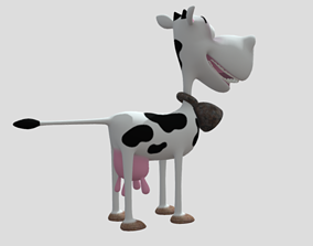 Funny cow Animated and rigged 3D model