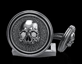3D print model art skull cufflinks