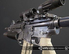 Rifle M4A1 3D asset