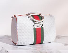3D model White sports handbag