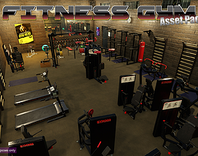 Low-Poly Fitness-Gym Pack 3D model