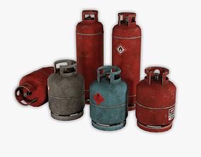 6 Fuel tank pack 3D asset