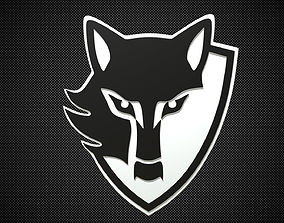 e wolf logo 3D