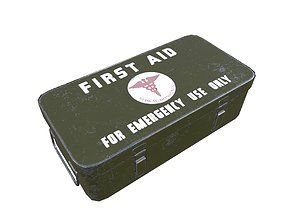 First Aid Medical Kit Game Ready 3D asset